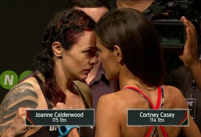JoJo (esq.) e Cortney (dir.) em encarada tensa. Foto: Reprodução