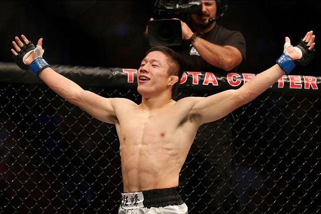 "Horiguchi (foto) se curou da ""ressaca"" da derrota pelo título. Foto: Josh Hedges/UFC"