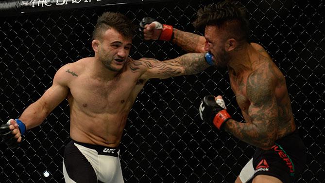 Lineker derrotou Rivera no card preliminar do UFC 191. Foto: Divulgação