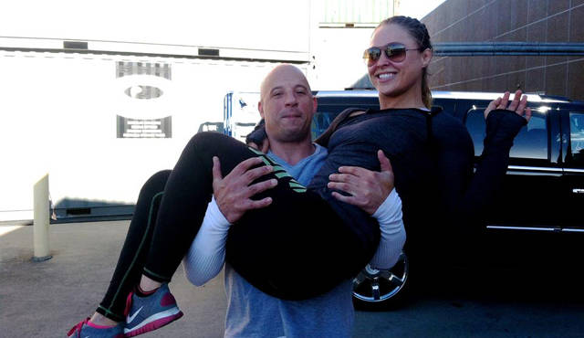 Ronda e Diesel se tornaram amigos nas gravações de filme. Foto: Reprodução/Instagram