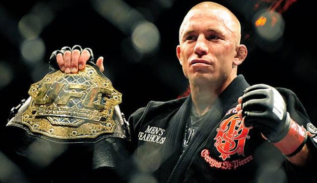 St. Pierre (foto) está afastado do MMA por tempo indeterminado. Foto: Josh Hedges/UFC