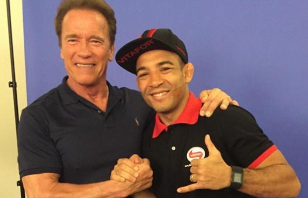Arnold (esq.) e Aldo (dir.), encontro aconteceu no fim de semana. Foto: Reprodução