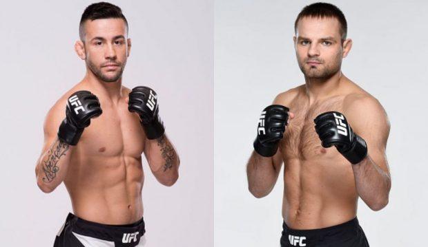 Munhoz (esq) e Stasiak (dir) se enfrentam em maio. (Foto: (Foto: UFC/Produção: SUPER LUTAS)