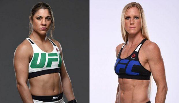 B. Correia (esq) enfrenta H. Holm (dir) Foto: UFC/Montagem: Super Lutas