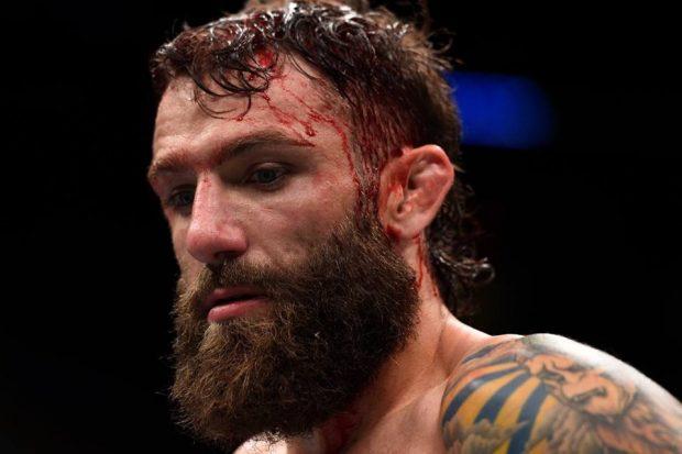 M. Chiesa após revés em Oklahoma (Foto: Reprodução/Facebook/UFC)