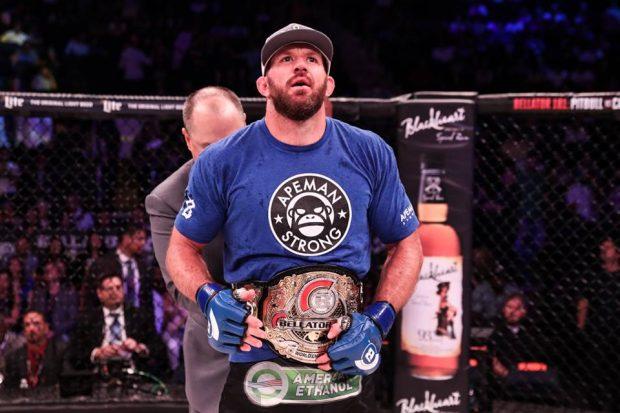 R. Bader conquistou título em junho (Foto: Reprodução/Facebook/Bellator MMA)