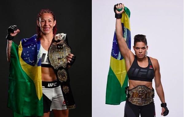 Cyborg (esq) e Amanda (dir) são campeãs do UFC (Foto: Reprodução/Instagram UFC Brasil)
