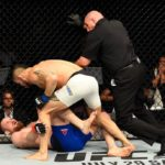 Ponzinibbio não deu chances para Nelson (Foto: Reprodução/Facebook UFC)