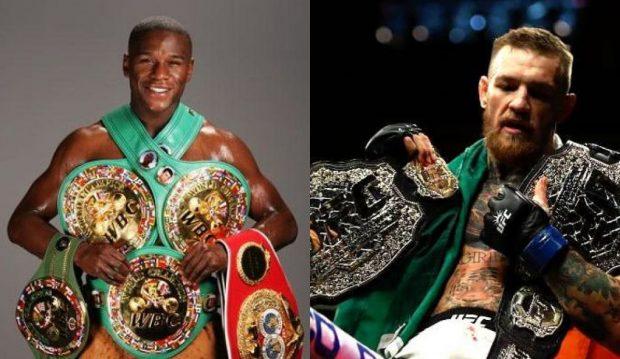 Floyd (esq) e Conor (dir): representantes de seus esportes (Fotos: Divulgação/Reprodução Facebook UFC)