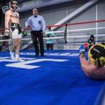 C. McGregor em sparring com P. Malinaggi (Foto: Reprodução Instagram ginger_bread_photos)