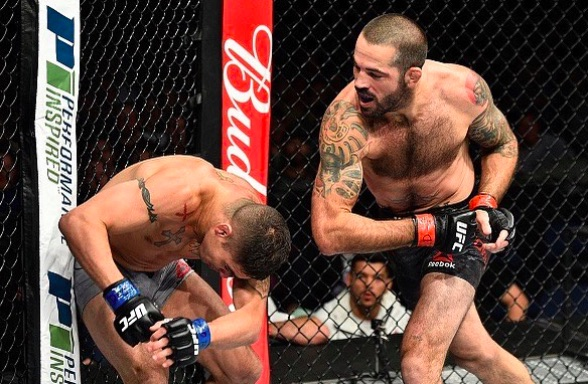 Brown aplicou nocaute brutal em Sanchez (Foto: Reprodução/Instagram UFCBrasil)