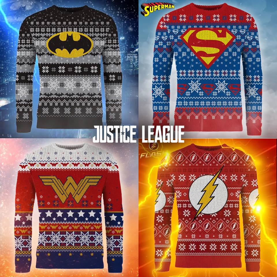 Batman Christmas Sweater.Official Justice League Knitted Christmas Sweaters From