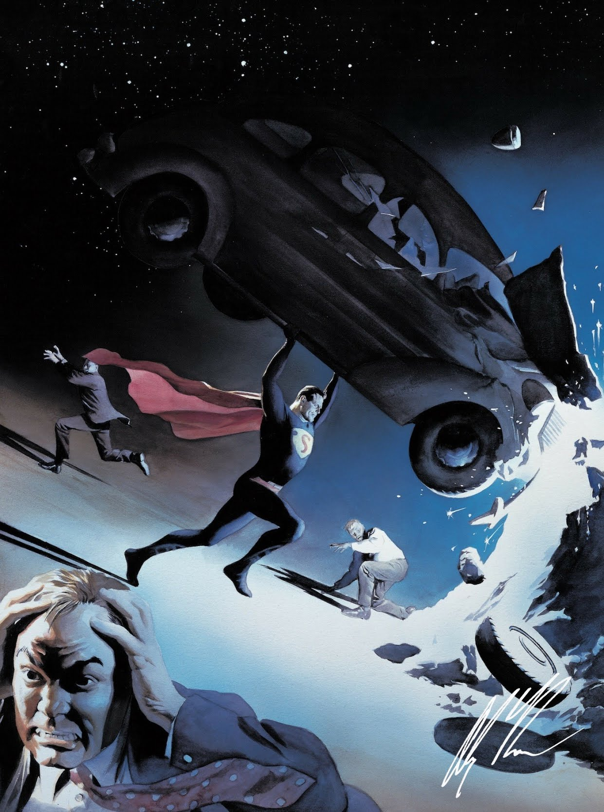 Alex Ross - Action Comics #1 Lithograph Collaboration with SYFY Wire