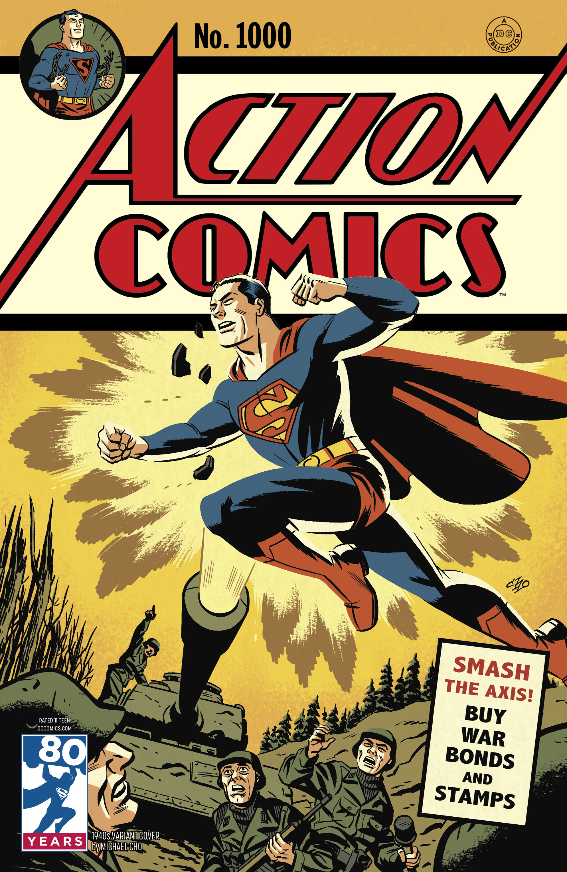 Action Comics Variant 1000 - Michael Cho Superman 1940's