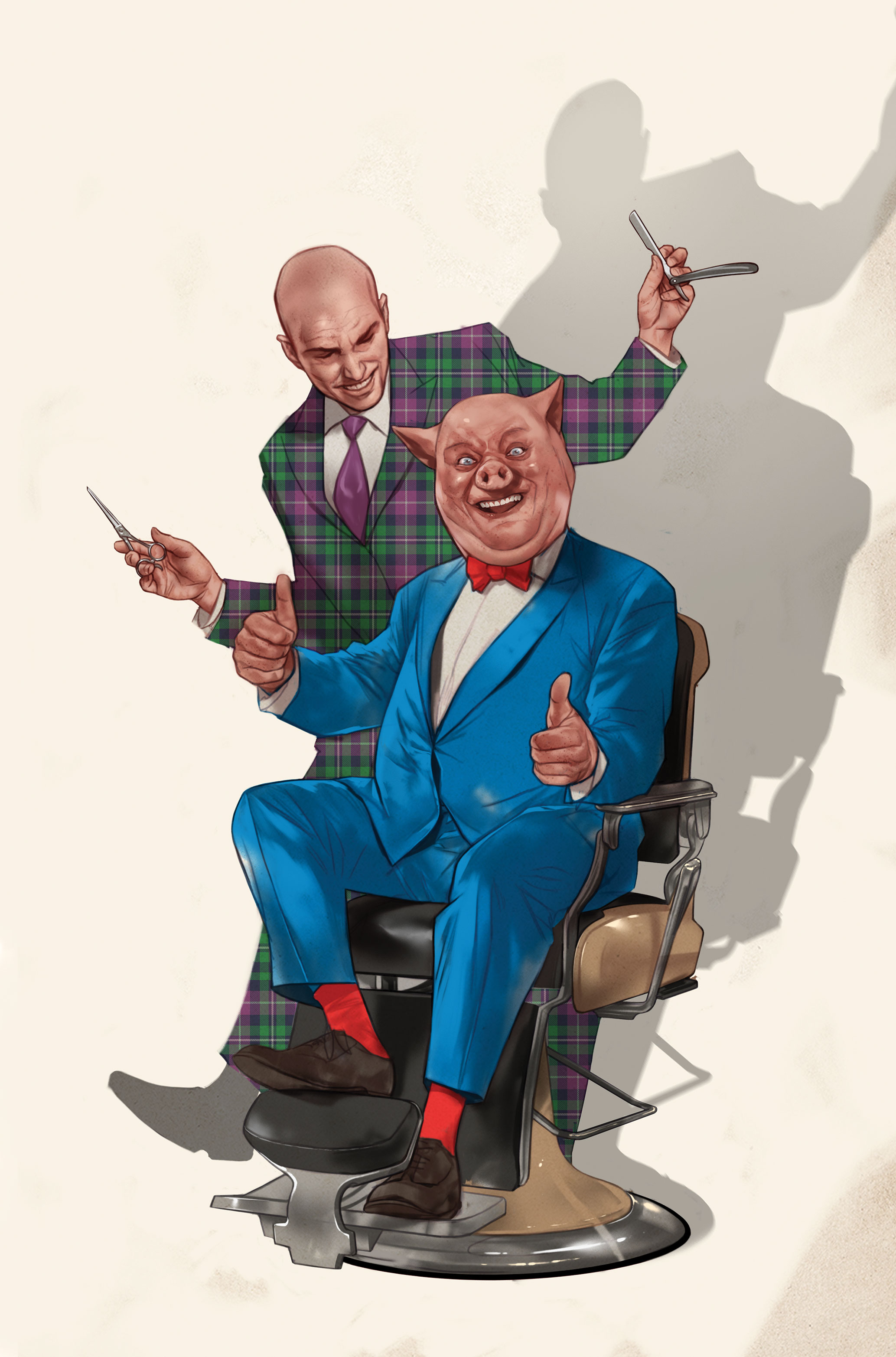 DC Comics team up with Looney Tunes - Lex Luthor and Porky Pig