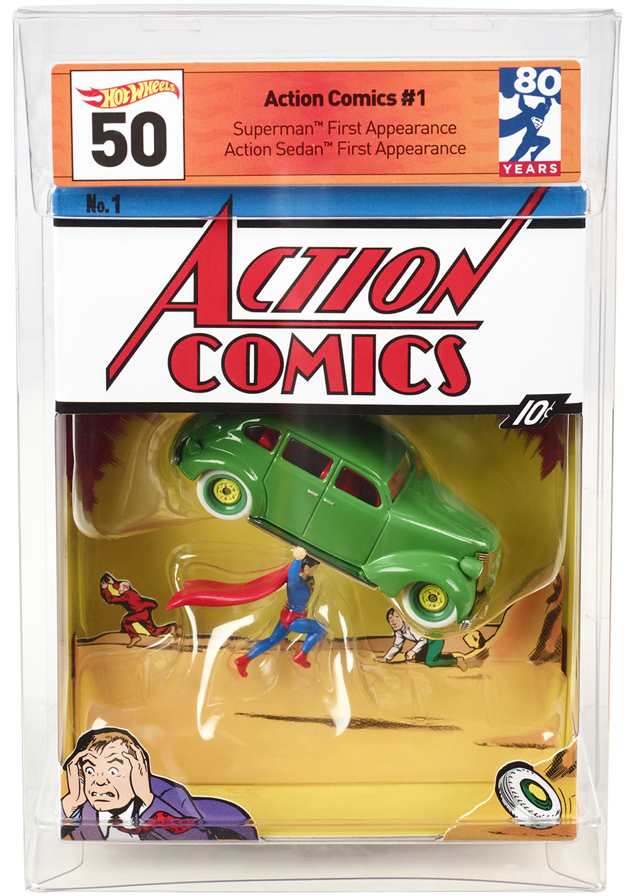 Mattel hot wheels action comics 1
