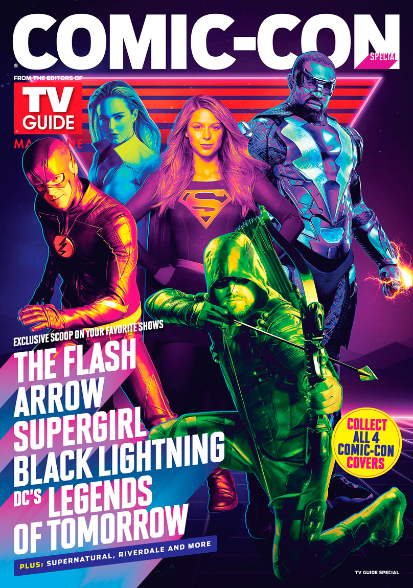 Warner bros. Tv and tv guide announce 2018 comic-con covers.