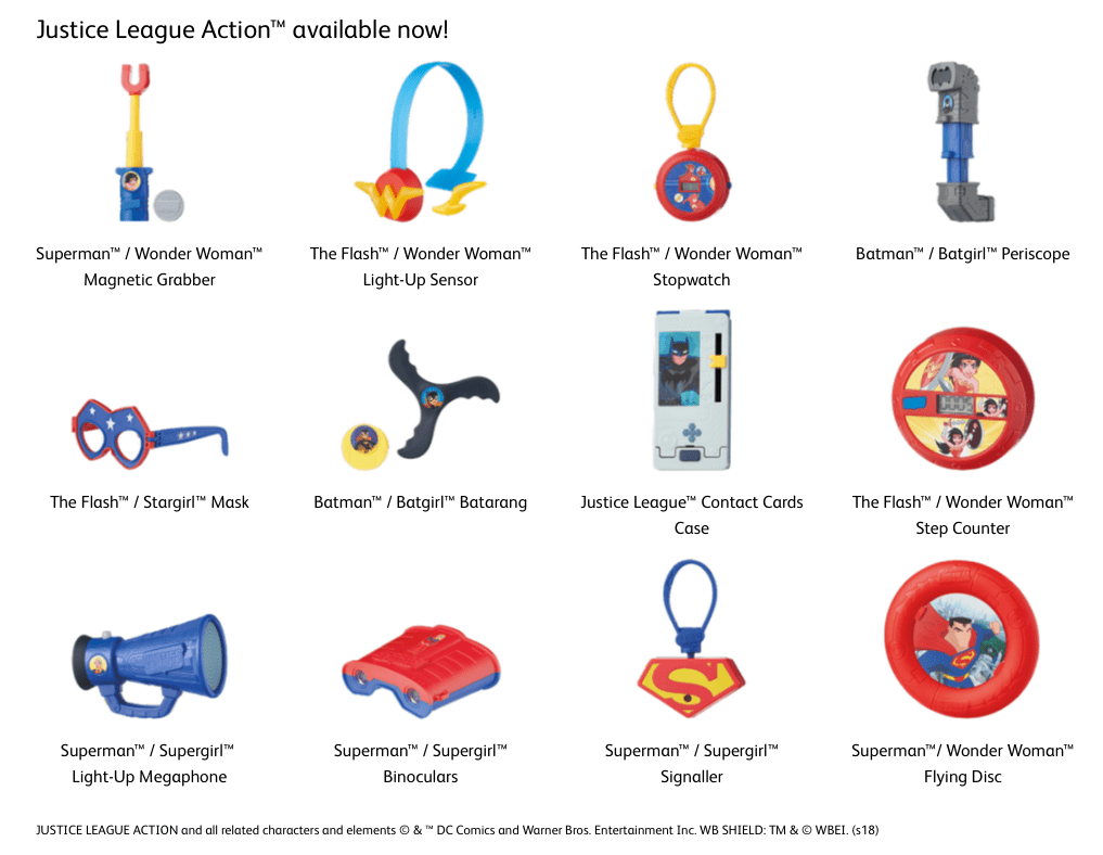 """Justice League Action"""" Toys Available at McDonalds Australia ..."""