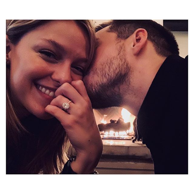 Melissa Benoist engaged to 'Supergirl' co-star Chris Wood