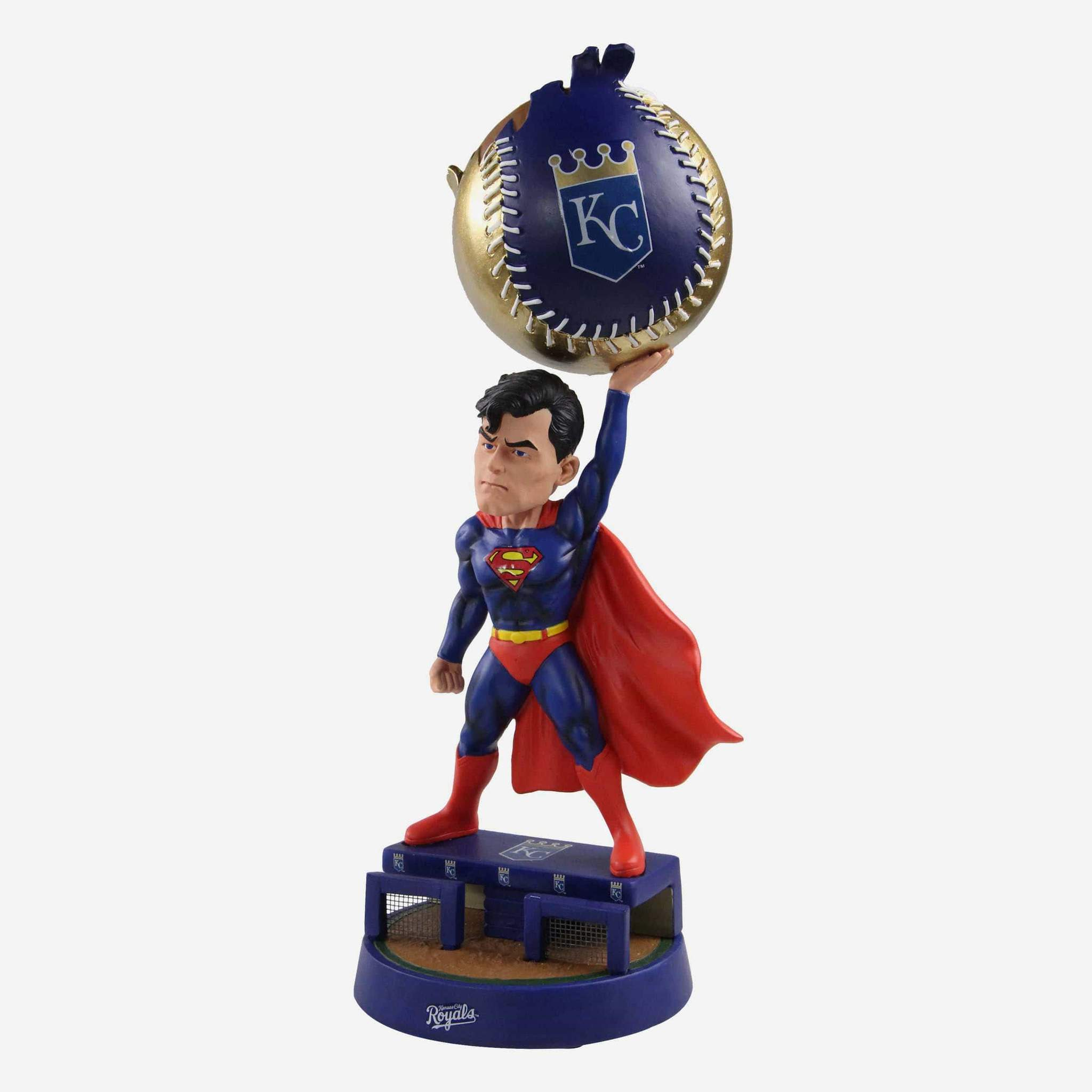 Baseball Themed Superman Bobbleheads