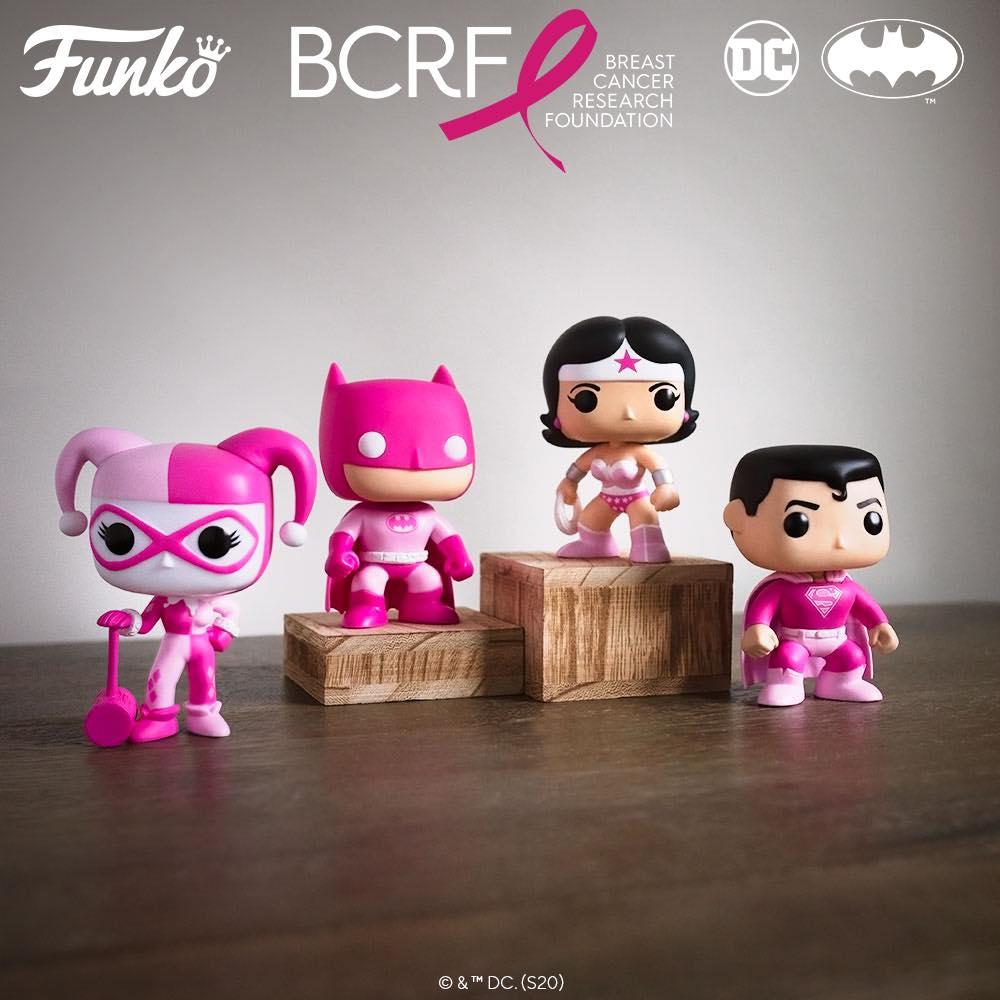 Funko Pop! DC Heroes: Breast Cancer Awareness Figures