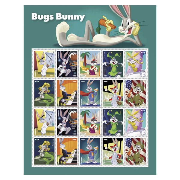 """bugs bunny stamps - 80 años del sello de """"Súper Conejo"""" de Bugs Bunny"""