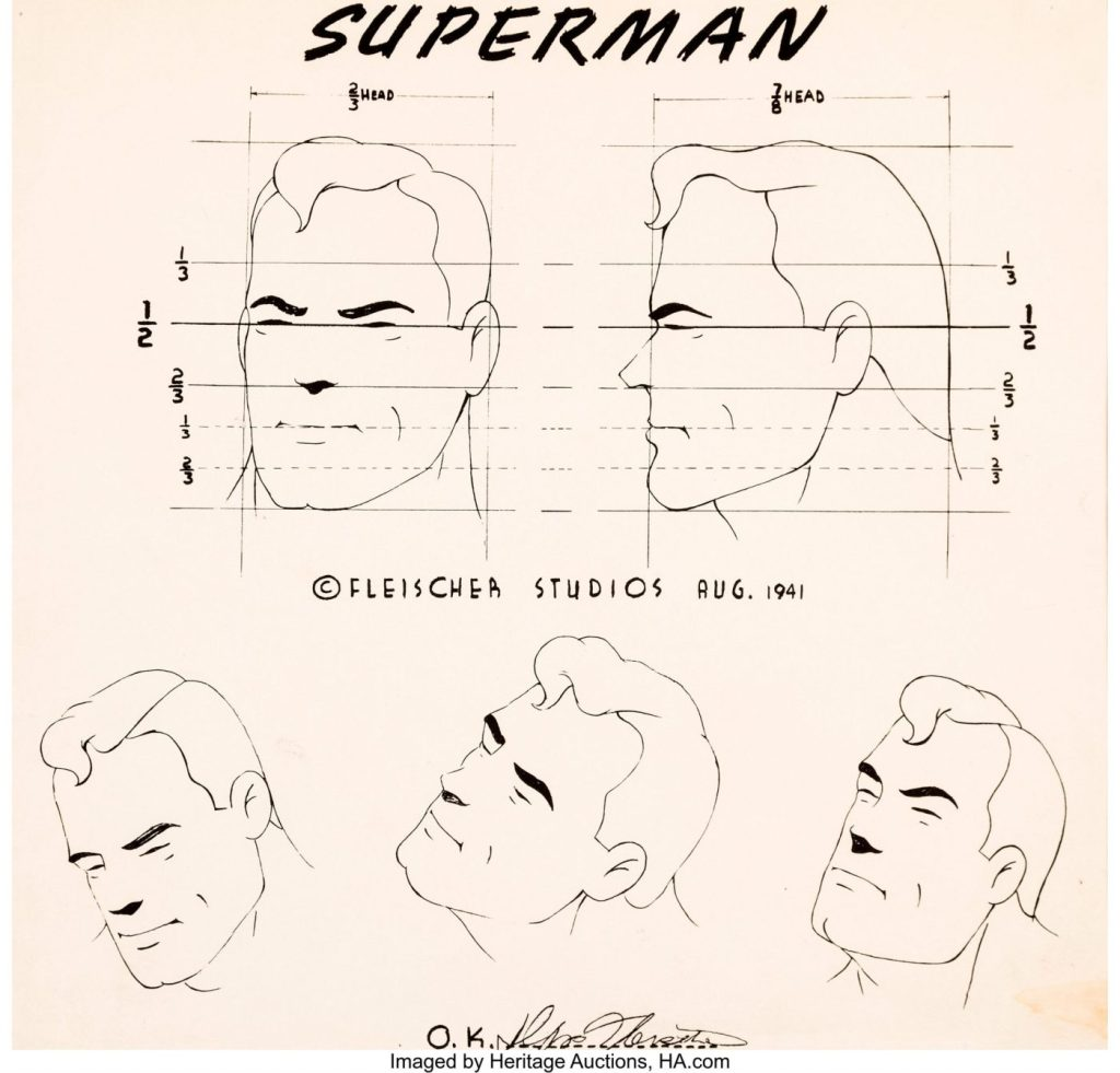 Fleischer Auction2 - El arte original de los dibujos de Superman de los Fleischer a subasta