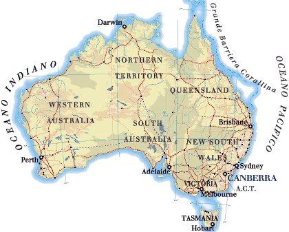 Australia Cartina Geografica.Australia Or Down Under Lucisulblog S Blog