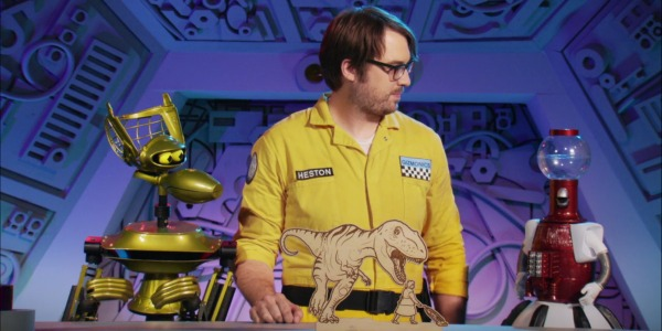 "MST3KEp5DinnerwithAndre - Mystery Science Theater 3000 The Return (S01E05) ""The Beast of Hollow Mountain"""