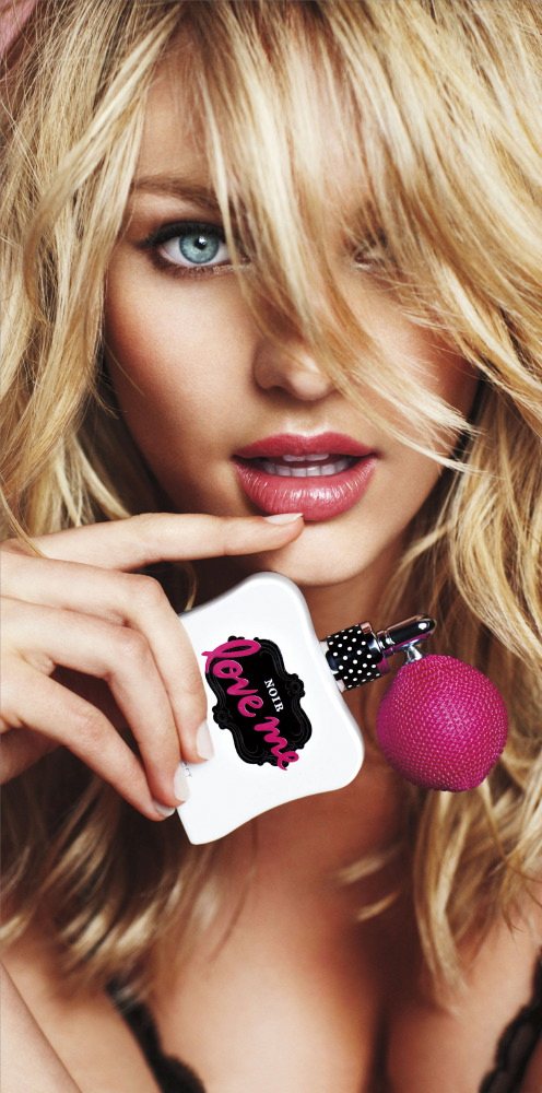 Candice Swanepoel for Victoria's Secret Noir Love Me, 2010 [x 2]