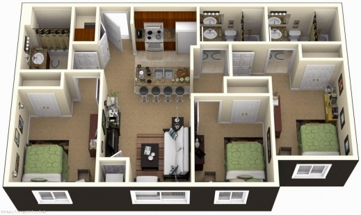 4 Bedroom House Plans Indian Style 3D House Plans Images,House