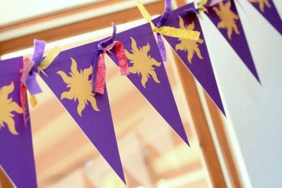 Rapunzel Sun Bunting - Pennant Flags