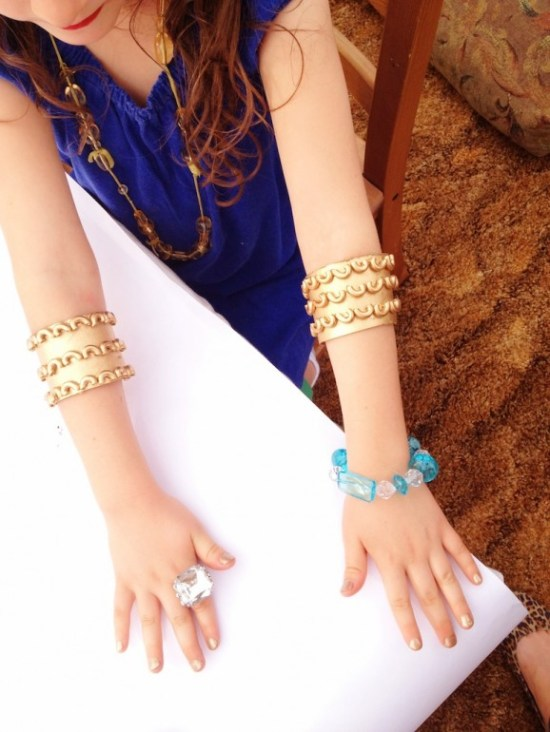 Egyptian Princess Dress Up Gold Cuffs
