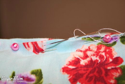 How to Sew a Basic Throw Pillow - slip stitch opening closed