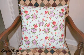 Completed pillow for the How to Sew a Basic Throw Pillow Tutorial
