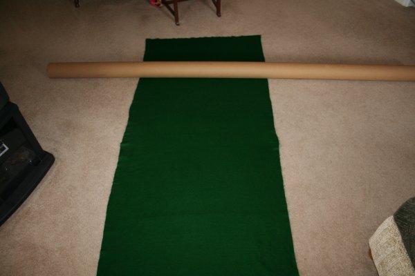 DIY Puzzle Mat - Carpet Tube is Way too long