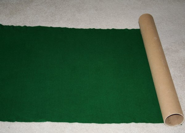 DIY Puzzle Mat - Cardboard tube cut to size