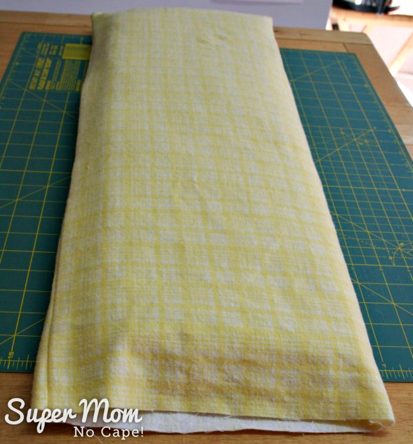 How to Make Bedding for a Doll Cradle - Insert batting into mattress cover