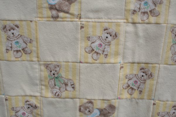 doll quilt close up