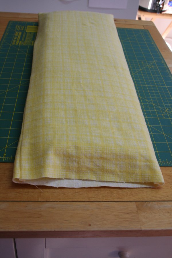 Insert batting into mattress cover