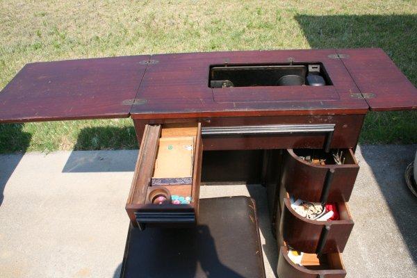 Art Deco Sewing Machine Cabinet - 3