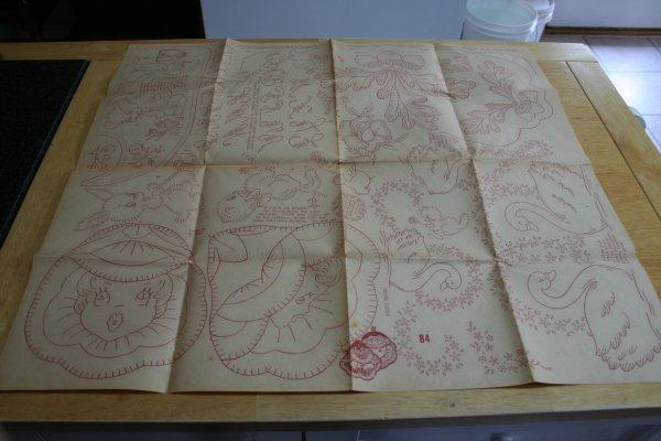 Flower ladies and swan transfer sheet