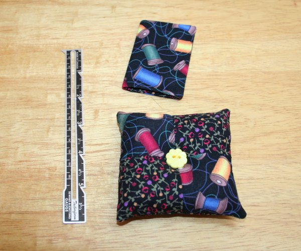 matching pin cushion and needle book