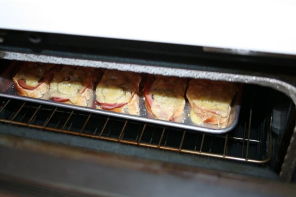 Put them back under the broiler