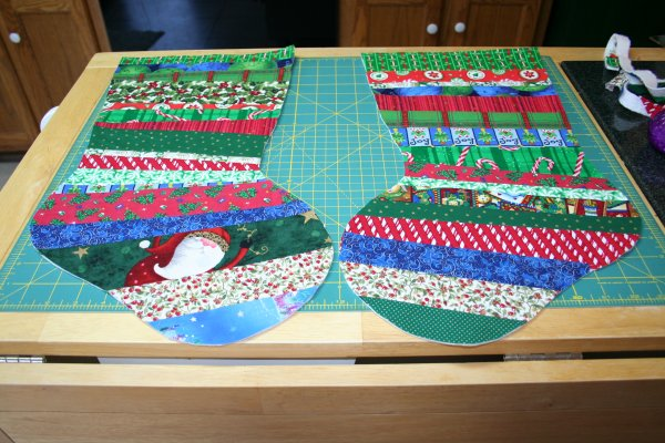Two stocking pieces finished