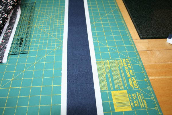 Strip for side of cushions