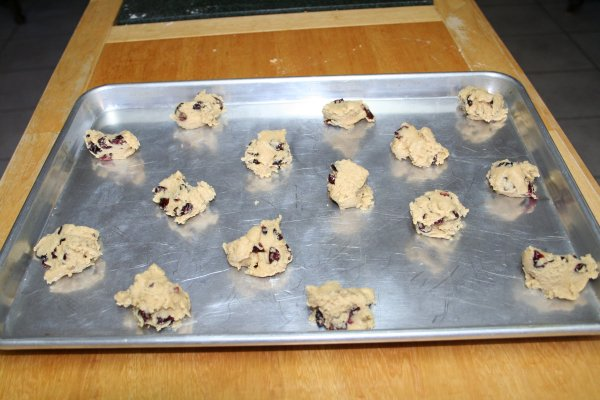 take out of freezer bag and place on cookie sheet
