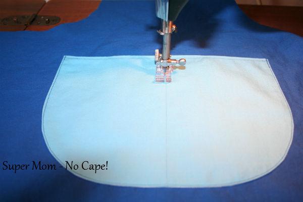 12 - Stitch along center pocket seam