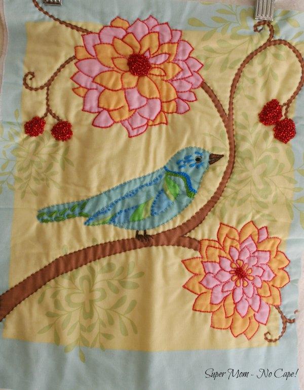 5 Embellished Blue Bird