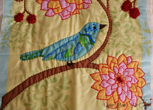 6 Close - up embellished blue bird